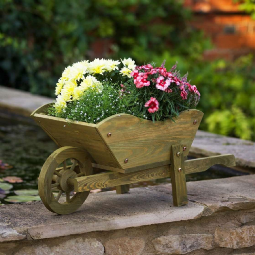 Woodland Wheelbarrow Planter